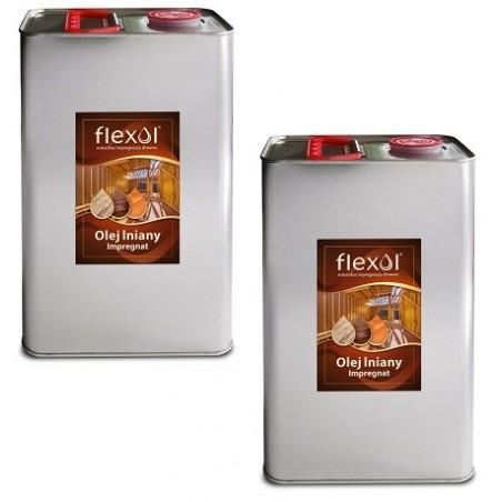 NOWOŚĆ !!! Olej lniany FLEXOL 2 x 5 L IMPREGNAT DO DREWNA