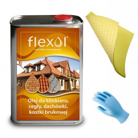 Olej FLEXOL 1 L do klinkieru, cegły, dachówki, kostki i bruku