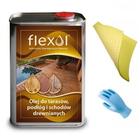 Olej FLEXOL 1L do tarasów, podłóg, schodów drewnianych