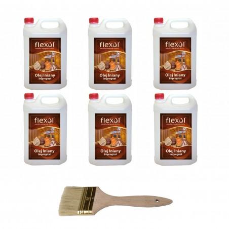 Olej lniany FLEXOL 30 L IMPREGNAT DO DREWNA