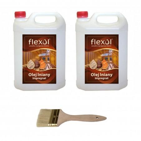 Olej lniany FLEXOL 10 L IMPREGNAT DO DREWNA