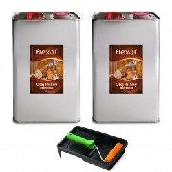 Olej lniany FLEXOL 2 x 5 L IMPREGNAT DO DREWNA
